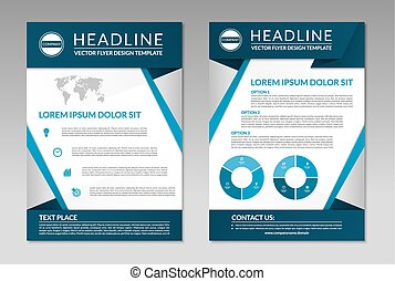 Business brochure flyer design template A4 size - Brochure...