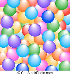 Rainbow colors glossy balls background.