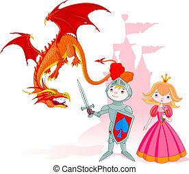 The Brave Knight - The brave knight protects the princess...