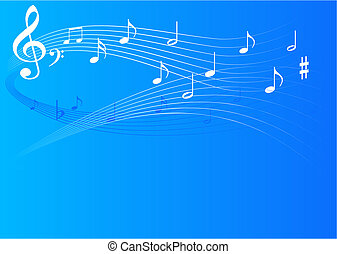 Music background - Music theme blue background