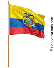 Ecuadorian flag Image with clipping path