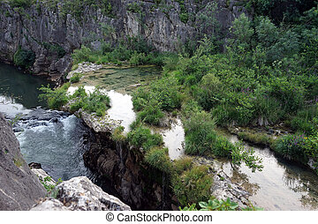 Gorges - River Herault in gorges, France...