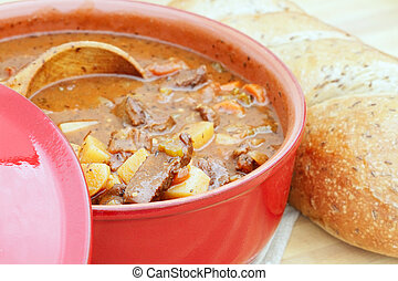 Fresh Venison Stew - Freshly prepared venison stew with...