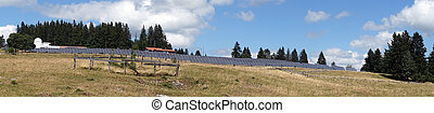 Solar power station - ST-IMIER, SWITZERLAND - CIRCA JULY...