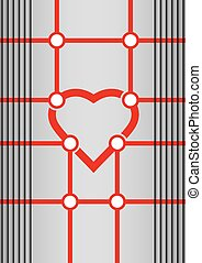 Template with heart symbol - Abstract background, clean...