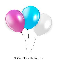 Set of Colored Balloons, Illustration