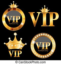 VIP Members Card Vector Illustration - VIP Members Card on...