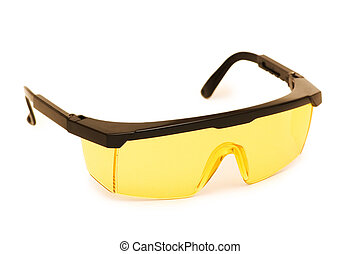 Safety glasses isolated on the white background