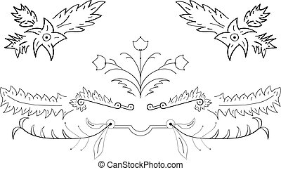 Creativ flower - Creative and vector patterns, set of...