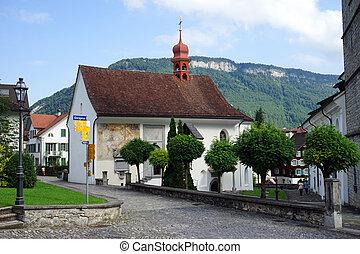 Parish church - STANS, SWITZERLAND - CIRCA AUGUST 2015...
