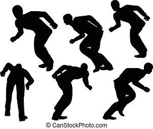 businessman run with lean