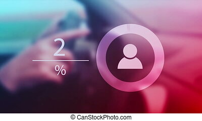 Infographics for female car drivers, woman driving a car