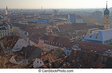 view of historical center in Graz - view of historical...