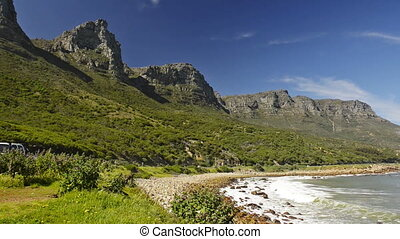 Cape Town South Africa - Scenic view along the coastal road...