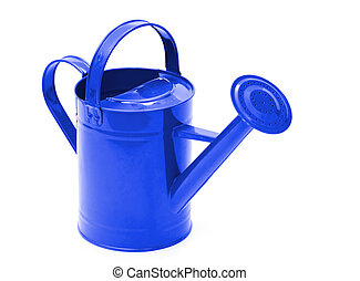 watering can - Green watering can isolated on a white...