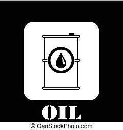 gasoline barrel symbol vector illustration eps 10