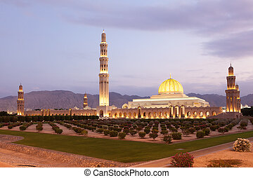 Sultan Qaboos Grand Mosque in Muscat, Oman - The Sultan...