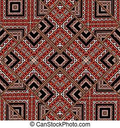 decorativo, patrón, geométrico, Extracto, florido