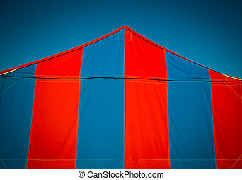 red and blue tent - Red and blue big top tent in the usa