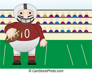 American football Player standing in field