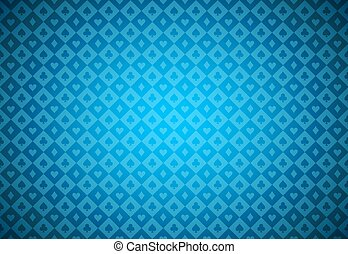 Minimalistic blue poker background with texture composed...