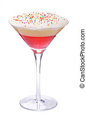 Trifle - Individual trifle isolated against white