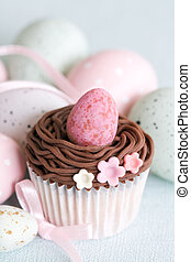 Easter cupcake - Cupcake decorated with an Easter theme