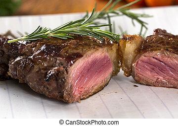 Steak roast on board