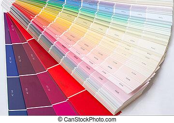 exemplos, de, cores, e, números,