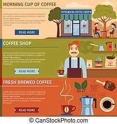 Set Of Coffee Banners