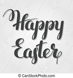 Happy Easter lettering Concept can be used for holiday...