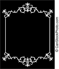 Abstract Black and White Frame Original Vector Illustration...