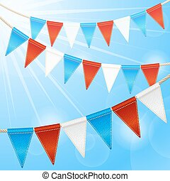 Bunting flags garlands - Bunting party flags garlands...