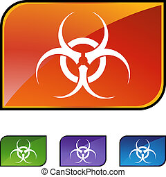 Biohazard isolated on a background