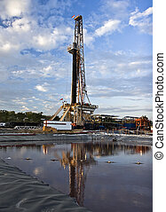 Land drilling rig - Land rig drilling an exploration oil...