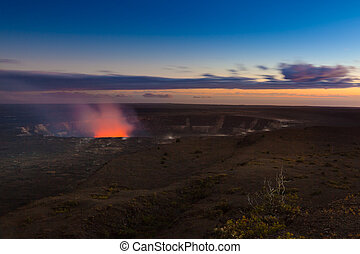 Erupting volcano - Volcano erupting on Big Island, Hawaii