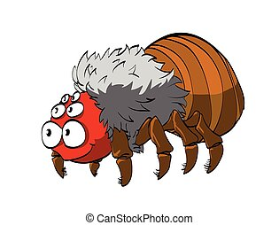Cartoon Tarantula - Vector illustration of a hairy cartoon...
