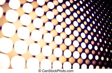 Led Lights Panel Backdrop. Blurred Leds Abstract Background.