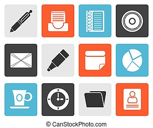 Flat Office and Business Icons - Flat Office Business Icons...