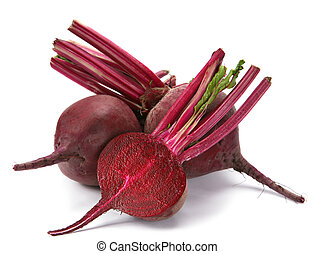 Beet vegetable - Beet purple vegetable with shadow on white...