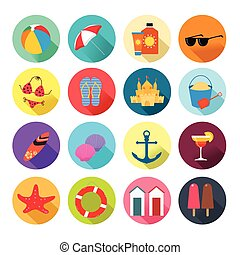 Beach Summer Icons