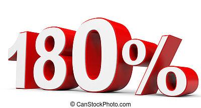 Discount 180 percent off. 3D illustration.