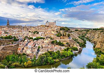 Toledo Skyline - Toledo, Spain old town city skyline