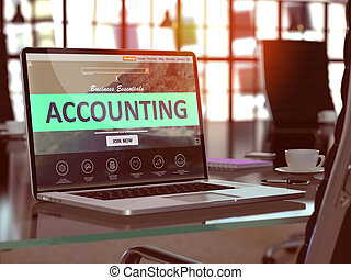 Accounting Concept on Laptop Screen - Accounting Concept...
