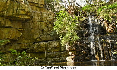Moremi Gorge Waterfall Botswana - The 4th of 5 waterfalls in...