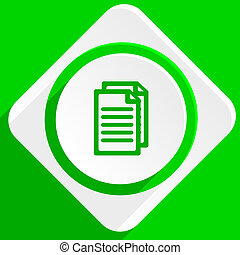 document green flat icon
