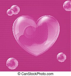 Vector illustration of bubble heart - Vector illustration of...