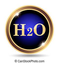 H2O icon Internet button on white background