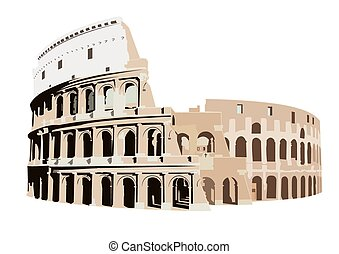 Colosseum in Rome, Italy - The Colosseum in Rome, Italy