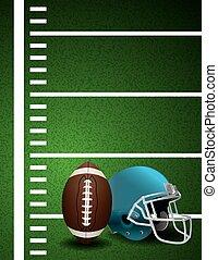 American Football Field Ball Helmet Background - An...